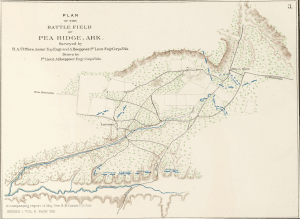 Map of the Battle of Pea Ridge