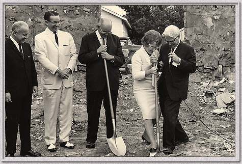 Groundbreaking of new educational building - 1965