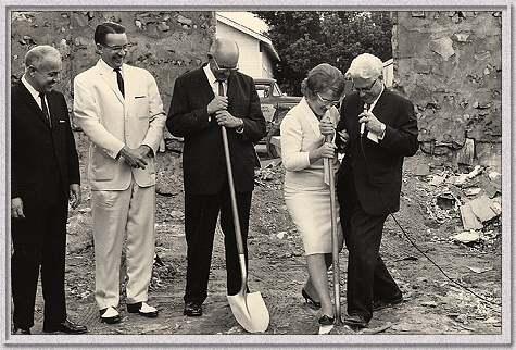 Groundbreaking of new educational building - 1965