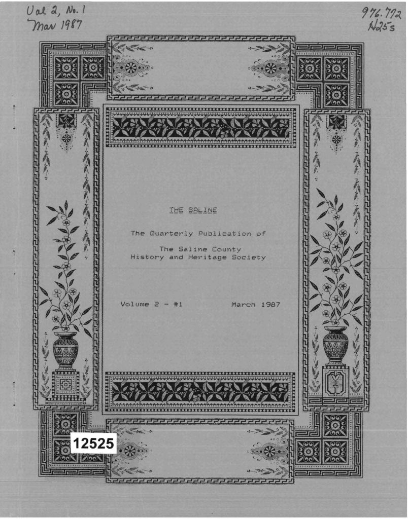 Title page to The Saline