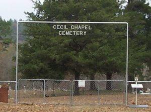 Cecil Chapel Cemetery, Vandervoort, Arkansas