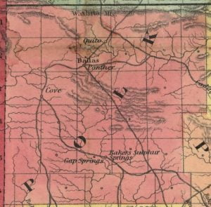 Polk County from the 1854 Colton Railroad and Township Map