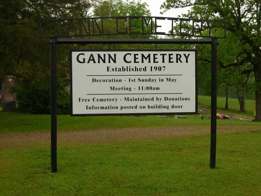 Gann Cemetery, New Potter, Arkansas