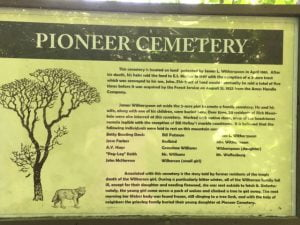 Pioneer Cemetery Sign, Mesa, Arkansas